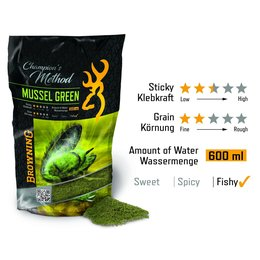 Browning Champions Method Mussel green grün 1kg