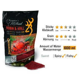 Browning Champions Method Robin & Krill rot 1kg