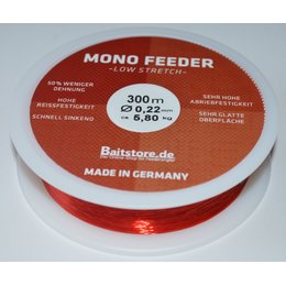 Baitstore.de - Mono Feeder Low Stretch Red - 300m