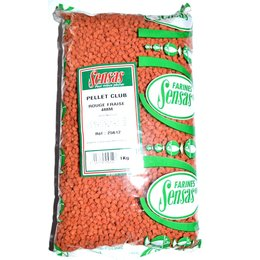 Sensas Pellets Club Rot Erdbeere 4mm 1,0kg