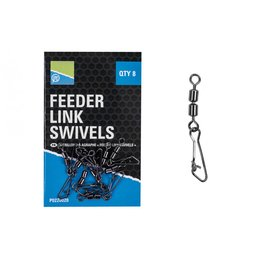 Preston Feeder Link Swivels 8 Stk.